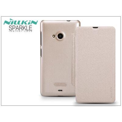 Microsoft Lumia 535 oldalra nyíló flipes tok - Nillkin Sparkle - golden
