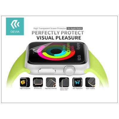 Apple Watch képernyővédő fólia - Devia High Transparent Screen Protector 42 mm - clear