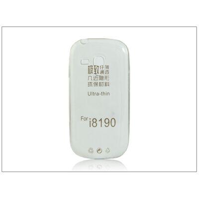Samsung i8190 Galaxy S III Mini szilikon hátlap - Ultra Slim 0,3 mm - transparent