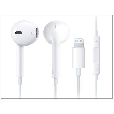 Apple iPhone eredeti távirányítós, sztereó headset Lightning csatlakozóval, mikrofonnal - MMTN2ZM/A - fehér (ECO csomagolás)