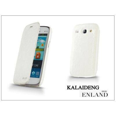 Samsung i8260 Galaxy Core flipes tok - Kalaideng Enland Series - white