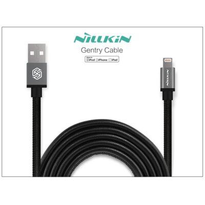 Apple iPhone 5/5S/5C/SE/iPad 4/iPad Mini USB töltő- és adatkábel - 1 m-es vezetékkel (Apple MFI engedélyes) - Nillkin Gentry Lightning - fekete