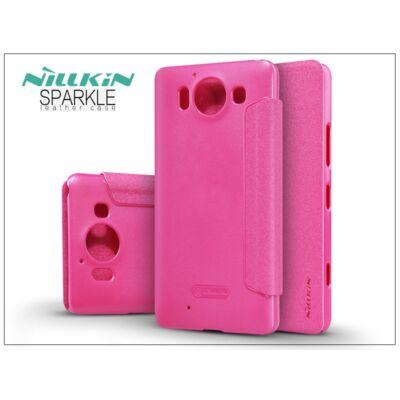 Microsoft Lumia 950 oldalra nyíló flipes tok - Nillkin Sparkle - pink