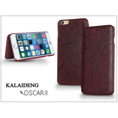 Apple iPhone 6 Plus flipes tok - Kalaideng Oscar 2 Series - dark red
