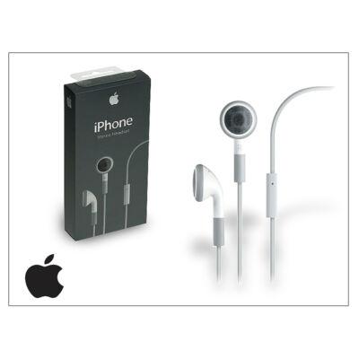 Apple iPhone 3G/3GS/4/4S eredeti sztereó headset mikrofonnal - MA814L/A - fehér