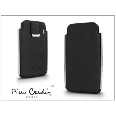 Pierre Cardin valódi bőrtok - Apple iPhone 4/4S - Type-2 - fekete