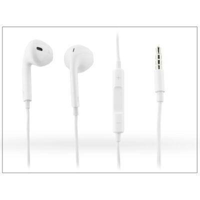 Univerzális sztereó felvevős fülhallgató - 3,5 mm jack - Earpods - műanyag dobozos - white