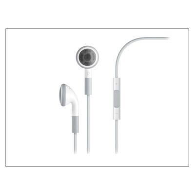 Apple iPhone 3G/3GS/4/4S/5/5S/5C/SE/6/6S eredeti távirányítós, sztereó headset mikrofonnal - fehér - MB770G/A (ECO csomagolás)