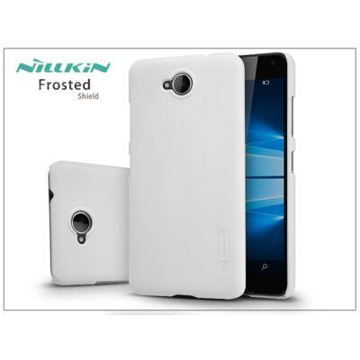 Microsoft Lumia 650 hátlap képernyővédő fóliával - Nillkin Frosted Shield - fehér