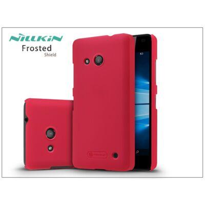 Microsoft Lumia 550 hátlap képernyővédő fóliával - Nillkin Frosted Shield - piros