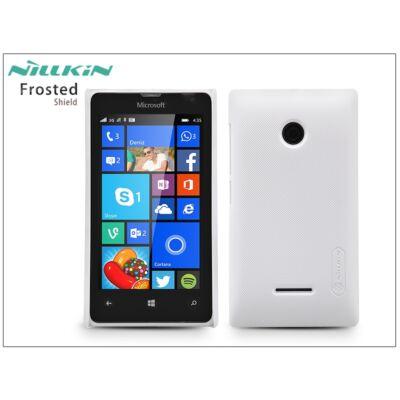 Microsoft Lumia 532 hátlap képernyővédő fóliával - Nillkin Frosted Shield - fehér