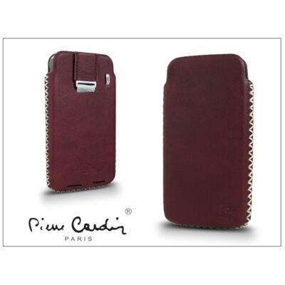Pierre Cardin valódi bőrtok - Apple iPhone 4/4S - Type-1 - bordó