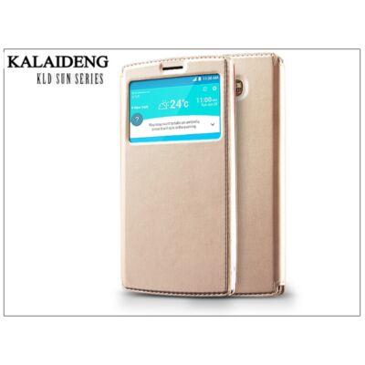 LG G4 H815 flipes tok - Kalaideng Sun Series View Cover - golden