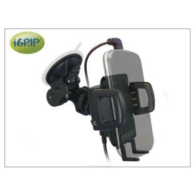 iGrip univerzális, aktív autós telefontartó Apple 30 pin/Lightning és micro USB töltő csatlakozóval - iGrip Charging Dock