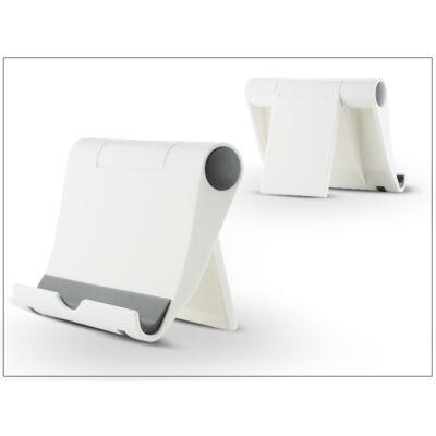 Univerzális asztali telefon + tablet tartó - fehér