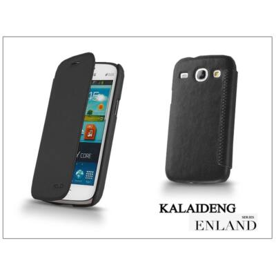 Samsung i8260 Galaxy Core flipes tok - Kalaideng Enland Series - black