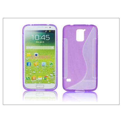 Samsung SM-G900 Galaxy S5 szilikon hátlap - S-Line - lila