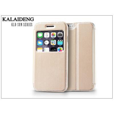 Apple iPhone 6 flipes tok - Kalaideng Sun Series View Cover - golden