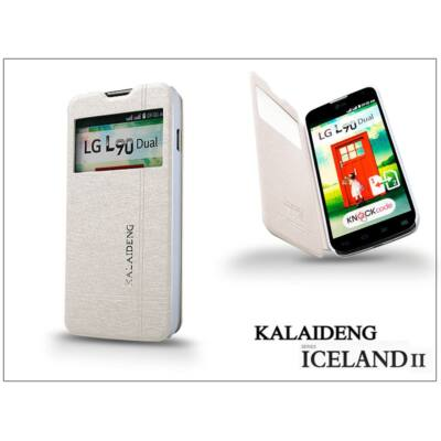 LG L90 D405 flipes tok - Kalaideng Iceland 2 Series View Cover - white