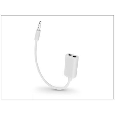 3,5 - 3,5 mm jack audio elosztó adapter - fehér