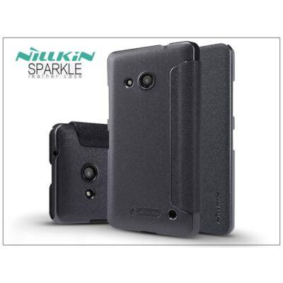 Microsoft Lumia 550 oldalra nyíló flipes tok - Nillkin Sparkle - fekete