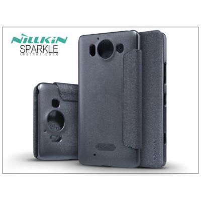 Microsoft Lumia 950 oldalra nyíló flipes tok - Nillkin Sparkle - fekete