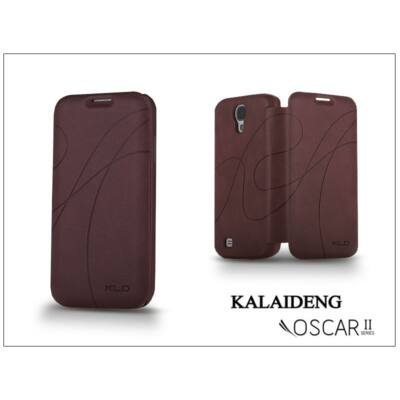 Samsung i9500 Galaxy S4 flipes tok - Kalaideng Oscar 2 Series - wine red