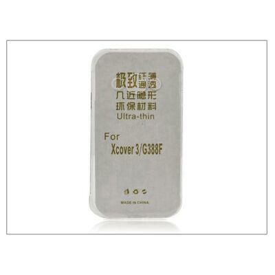 Samsung SM-G388F Galaxy Xcover 3 szilikon hátlap - Ultra Slim 0,3 mm - fekete