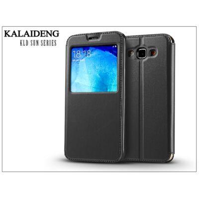 Samsung SM-A800 Galaxy A8 flipes tok - Kalaideng Sun Series View Cover - black