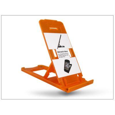 Univerzális asztali telefon + tablet tartó - narancs