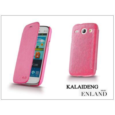 Samsung i8260 Galaxy Core flipes tok - Kalaideng Enland Series - dark pink