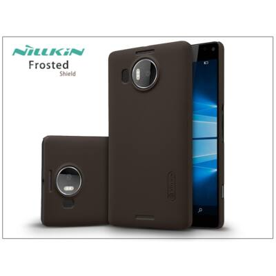 Microsoft Lumia 950 XL hátlap képernyővédő fóliával - Nillkin Frosted Shield - barna