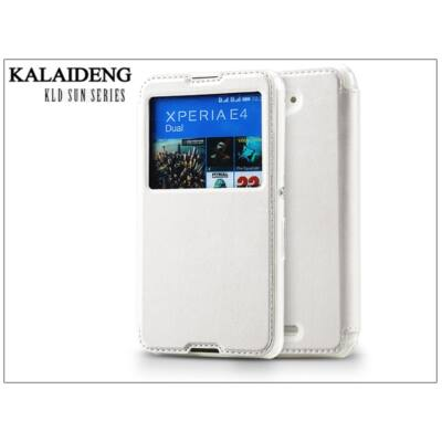 Sony Xperia E4 (E2104/E2105) flipes tok - Kalaideng Sun Series View Cover - white