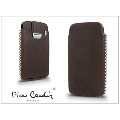 Pierre Cardin valódi bőrtok - Apple iPhone 4/4S - Type-1 - barna