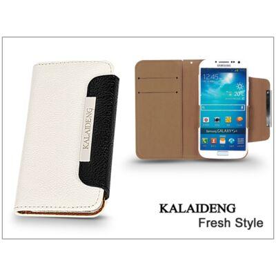 Samsung i9500 Galaxy S4 flipes tok kártyatartóval - Kalaideng Fresh Style Series - white