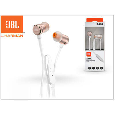 JBL univerzális sztereó fülhallgató - 3,5 mm jack - JBL T290 In-Ear Headphones - rose gold