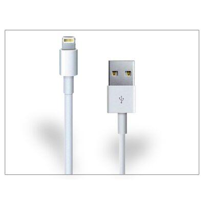 Apple iPhone 5/5S/5C/SE/iPad 4/iPad Mini Lightning USB töltő- és adatkábel 100 cm-es vezetékkel - fehér - PRÉMIUM utángyártott