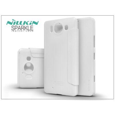 Microsoft Lumia 950 oldalra nyíló flipes tok - Nillkin Sparkle - fehér