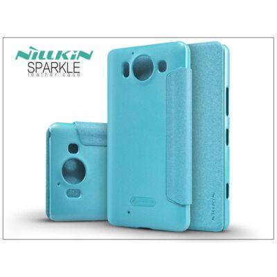 Microsoft Lumia 950 oldalra nyíló flipes tok - Nillkin Sparkle - kék