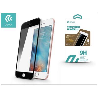 Apple iPhone 6/6S üveg képernyő- + Crystal hátlapvédő fólia - Devia Jade 2 Full Screen Tempered Glass Glossy - 1 + 1 db/csomag - black