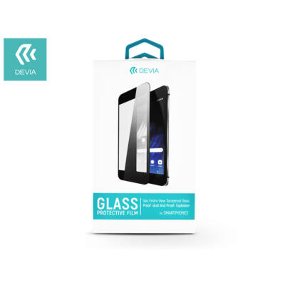 Samsung G973U Galaxy S10 üveg képernyővédő fólia - Devia 3D Van Entire View Tempered Glass - Teljes képernyős - 1 db/csomag - black