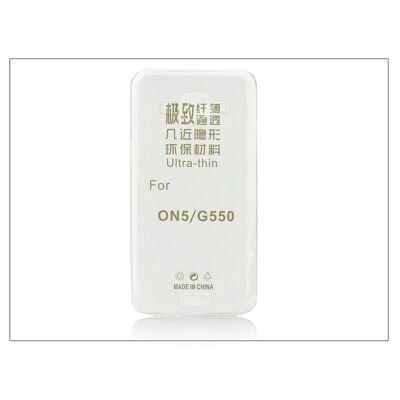 Samsung SM-G550 Galaxy Grand On5 szilikon hátlap - Ultra Slim 0,3 mm - transparent