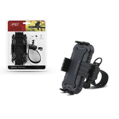 Univerzális kerékpárra szerelhető telefontartó - Fly 2326-CX - fekete