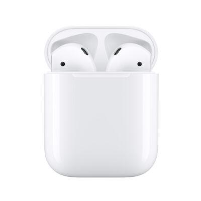 Apple AirPods (2. generáció) eredeti gyári sztereó bluetooth headset + töltőtok - MV7N2ZM/A - fehér