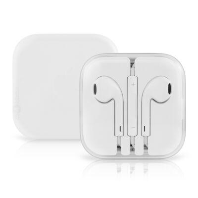 Apple EarPods gyári, eredeti fülhallgató távvezérlővel és mikrofonnal 3,5mm Jack MD827ZM