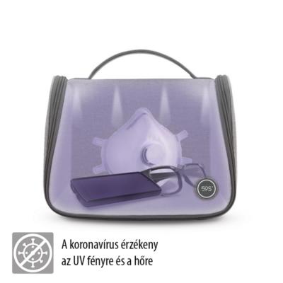Fertőtlenítő táska UV-C fénnyel, beépített akkumulátorral