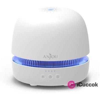 Anjou AJ-ADA019 fehér ultrahangos illóolaj párásító LED fénnyel