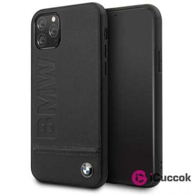 BMW Logo Imprint iPhone 11 fekete keménytok