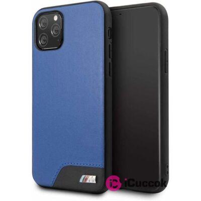 BMW iPhone 11 Pro sima kék kemény műbőrtok
