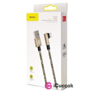 Baseus Camouflage 1,5A 2m Lightning > USB barna kábel